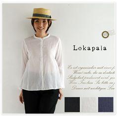 【Lokapala ロカパラ/ローカパーラ】<br>コットン シルク 製品染め ギャザー ブラウス (ld160111)