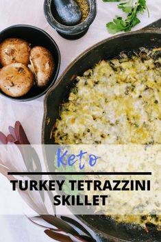 Keto Turkey Tetrazzini Skillet is an easy, healthy way to use up turkey leftovers. Sauteed onion and mushrooms in butter in an herb cream sauce and mixed with gooey cheese and diced turkey, then baked to perfection. Keen for Keto Leftover Turkey Recipes, Leftovers Recipes, Dinner Recipes, Turkey Leftovers, Lunch Recipes, Holiday Recipes, Sauce A La Creme, Turkey Casserole, Keto Casserole