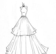 Las 15 Mejores Imágenes De Bocetos De Vestidos Bocetos De