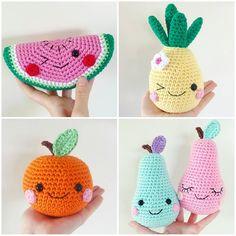 F R U I T S ! (Crochet pattern bundle in my shop, link in bio)