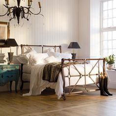 And So To Bed - Handel Luxury Metal Bed with cast iron straps fashioned to look like leather. A little something for the horsey folk out there?