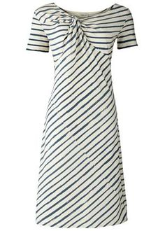 Adorable twisted striped dress..very cute and nautical. Perfect for a date night.