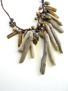 driftwood bone and stone necklace judy corlett