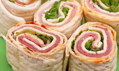Simple addictive appetizers, pinwheels have many variations and are easy enough for the kids to make.
