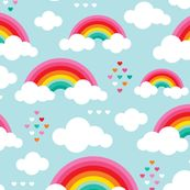 Double Rainbows in the Sky Cotton Multiple Sizes Timeless Treasures Fabric