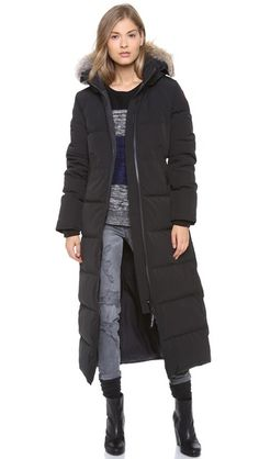 Would love a long and super warm winter jacket with hood! Just not as expensive sand cruel as Canada Goose jackets!