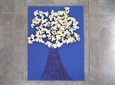 Kids Crafts - Popcorn Tree