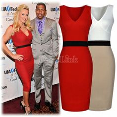 Ladies Red Celebrity Cocktail Party Wedding Bodycon Pencil Dress