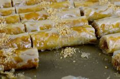RECIPE BY: MAUREEN ABOODThese Lebanese almond baklawa fingers are delicate, crisp, and fun to make. They're flavored with aromatic orange blossom syrup. Meat Recipes, Crockpot Recipes, Food Processor Recipes, Dinner Recipes, Phyllo Dough, Blanched Almonds, Pastry Brushes, Keto, Ground Almonds