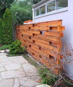 Trash can fence. Shadow Box Cedar Fence
