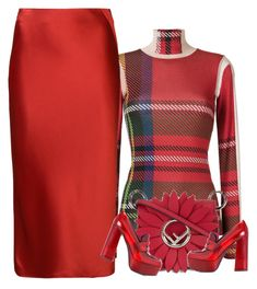 """""""red skirt"""" by bodangela ❤ liked on Polyvore featuring Gloria Coelho, T By Alexander Wang, Fendi and Prada"""