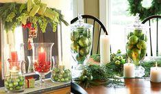 Decoração Natalina com Potes de Vidro - Design Innova