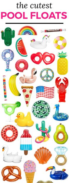 The best pool floats for Spring Break and summer vacation how to score them at an amazing sale price Pool party essentials Cute pool floats Cactus rainbow flamingo wa. Summer Of Love, Summer Fun, Summer Time, Party Summer, Spring Summer, Casual Summer, Summer Pool, Beach Pool, Pool Schwimmt
