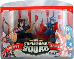 Marvel Superhero Squad Hawkeye & Captain America Mini Figure 2-Pack