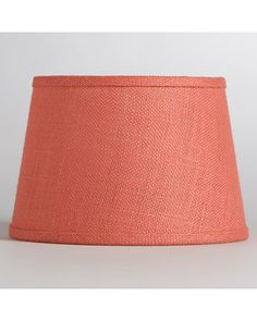World Market Coral Burlap Accent Lamp Shade from The World Market | BHG.com Shop