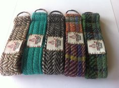 Harris tweed key ring key chain lanyard made in Scotland man woman gift vegetarian wool Scottish by Scotswhahae on Etsy https://www.etsy.com/listing/199993232/harris-tweed-key-ring-key-chain-lanyard