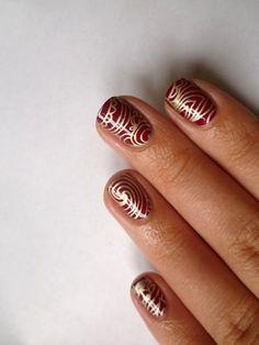 Mindennapi örömök: Burgundy Crush nyomdázás fall nail art, burgundy crush, stamping nail art My Nails, Nailart, Crushes, Burgundy, Beauty, Wine Red Hair, Beauty Illustration, Amaranth Grain