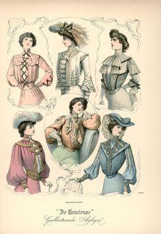[De Gracieuse] Elegante blouses en tailles (April 1902)