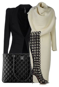 Untitled #919 by mkomorowski on Polyvore featuring polyvore, fashion, style, Chanel, Acne Studios, Liviana Conti and Gianvito Rossi