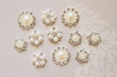 Hey, I found this really awesome Etsy listing at https://www.etsy.com/listing/251970763/pearl-rhinestonel-push-pins-ivory-pearl