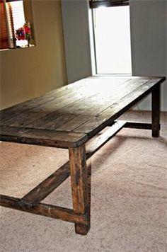 reclaimed wood desk/table