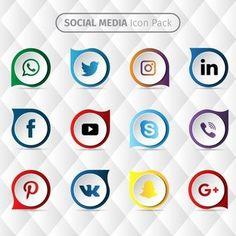 Social media icon design