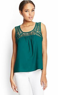 Laddered Cutout Top - Forever21