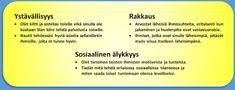 Luonteenvahvuudet jaoteltuina | Positiivinen pedagogiikka Social Skills