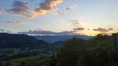 Radovljica na Eslovênia - Pôr de sol na Eslovênia
