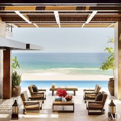 If I lived here I would probably convert just so I could get on my knees and thank SOMEONE for this view. Gorgeous. Los Cabos, Mexico : Architectural Digest