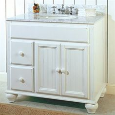 "37"" casual style thomasville bathroom sink vanity model"