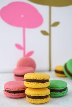 Macarons de fresita del bosque rellenos de chocolate y el resultado del sorteo!