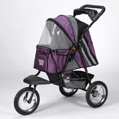 This Sprinter EXT II Pet stroller from Guardian Gear comes in a wonderful shade of plum. This stroller has a 25 pound capacity.