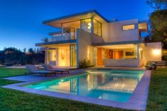 Bertram Architects ~ Los Angeles, CA ~ Lookout Residence/Pool, Southern facade