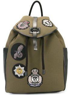 Alexander McQueen military badge backpack