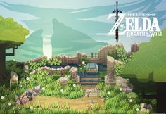 [OC] Zelda Breath of the Wild Pixel Fanart I made in the style of the game i'm working on - No Place for Bravery
