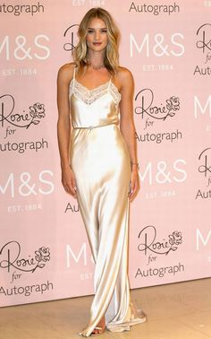 Rosie Huntington look slip dress