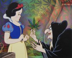 Which would you prefer? An apple or a pot leaf? | 17 Hilarious Disney GIFs All Stoners Will Appreciate