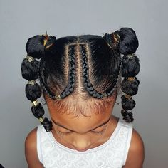 Some hairstyle inspiration for you guys! A super cute and easy hairdo 😍😍😍 I don't wanna brag but Janelle and Shanillia were pretty impressed 👌🏾👌🏾👌🏾 😋😋😋 ---- # low pigtail Braids # loose Braids for kids Childrens Hairstyles, Lil Girl Hairstyles, Cute Curly Hairstyles, Natural Hairstyles For Kids, Kids Braided Hairstyles, My Hairstyle, Curly Hair Styles, Natural Hair Styles, Beautiful Hairstyles