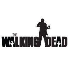 The Walking Dead Decal Sticker Daryl Dixon Zombie Walker Die Cut Vinyl | eBay