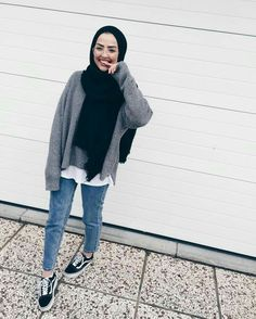 winter outfits hijab Outfit Ideas To Wear Winter H - winteroutfits Hijab Casual, Hijab Chic, Style Outfits, Casual Outfits, Cute Outfits, Fashion Outfits, Winter Outfits, Fashion Fashion, Vintage Fashion