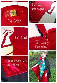 Vampire Cape Tutorial - great for Halloween kids costume!