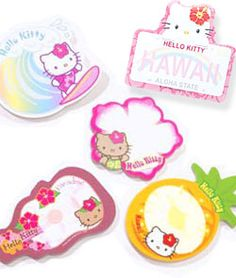 Hello Kitty Die-Cut Sticky Note Pads 5 Pack