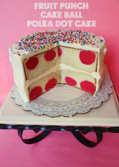 Cake Ball Polka Dot Cake | Plain Chicken