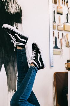 In the studio with our Sk8-Hi's.