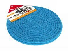 Poze Set 2 suporti textili pentru masa, rotund, 21.6 cm - albastru