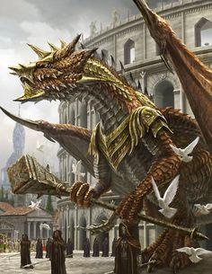 Artist: Unknown - Title: Unknown - Card: Sagacious Dragon Warrior