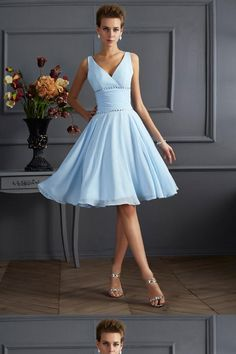 6042d12d70a0 27 Best Blue Bridesmaid Dresses Short images