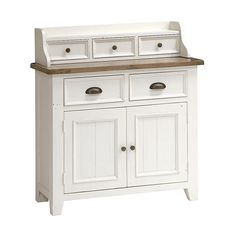 Sherwood Distressed Painted Deluxe Small Sideboard - The Cotswold Company Small Sideboard, Large Drawers, Serving Dishes, White Paints, Dining Room Furniture, Free Delivery, Shabby Chic, Cabinet, Pine