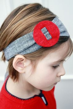 <3 this slide headband -  gray and red together.